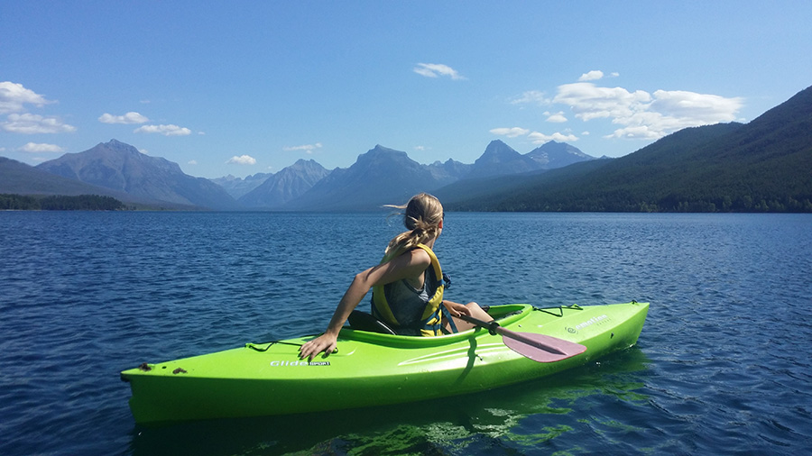 Woman in Kayak - Online Dating