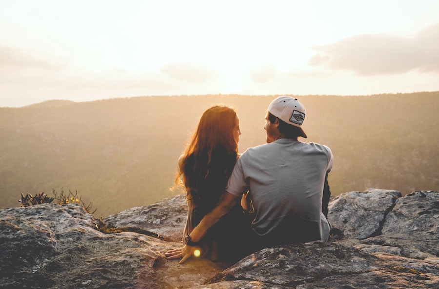 Couple Sunset - Introverted Men Are Attractive